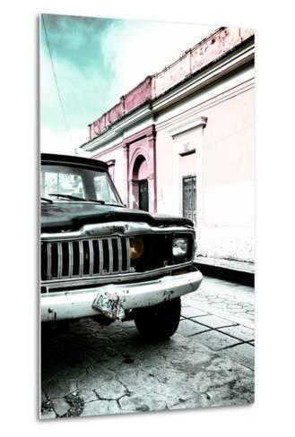 ¡Viva Mexico! Collection - Old Black Jeep and Colorful Street VII-Philippe Hugonnard-Metal Print