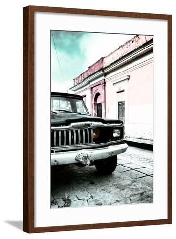 ¡Viva Mexico! Collection - Old Black Jeep and Colorful Street VII-Philippe Hugonnard-Framed Art Print