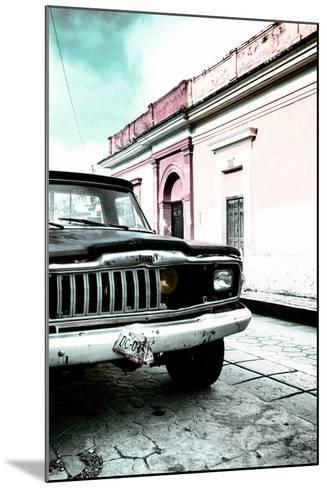 ¡Viva Mexico! Collection - Old Black Jeep and Colorful Street VII-Philippe Hugonnard-Mounted Photographic Print