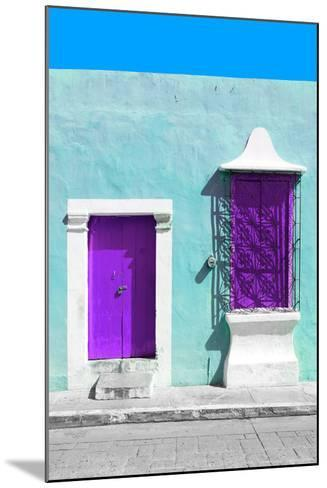 ¡Viva Mexico! Collection - Purple and Powder Blue Facade - Campeche-Philippe Hugonnard-Mounted Photographic Print