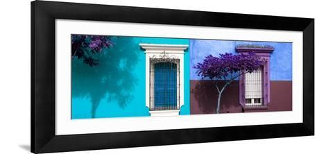 ¡Viva Mexico! Panoramic Collection - Mexican Colorful Facades V-Philippe Hugonnard-Framed Art Print
