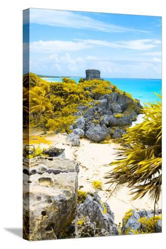 ¡Viva Mexico! Collection - Tulum Ruins along Caribbean Coastline III-Philippe Hugonnard-Stretched Canvas Print