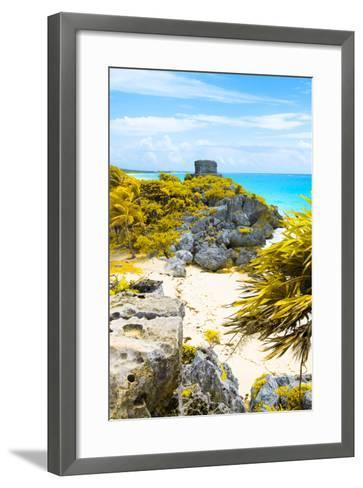 ¡Viva Mexico! Collection - Tulum Ruins along Caribbean Coastline III-Philippe Hugonnard-Framed Art Print