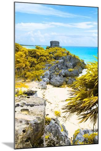 ¡Viva Mexico! Collection - Tulum Ruins along Caribbean Coastline III-Philippe Hugonnard-Mounted Photographic Print
