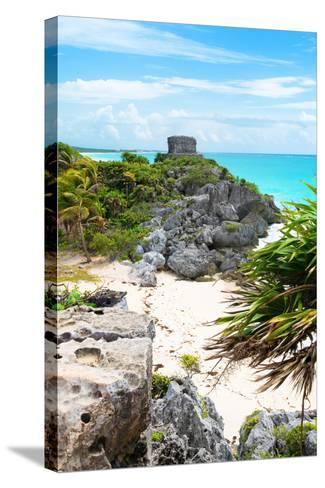 ¡Viva Mexico! Collection - Tulum Ruins along Caribbean Coastline II-Philippe Hugonnard-Stretched Canvas Print