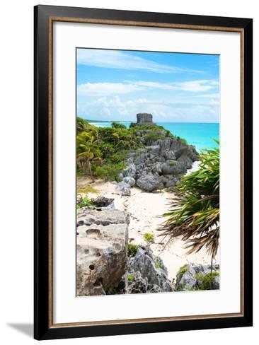 ¡Viva Mexico! Collection - Tulum Ruins along Caribbean Coastline II-Philippe Hugonnard-Framed Art Print