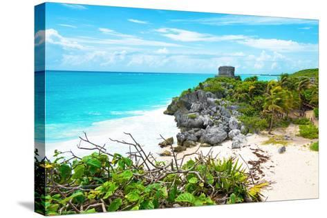 ?Viva Mexico! Collection - Tulum Ruins along Caribbean Coastline IV-Philippe Hugonnard-Stretched Canvas Print