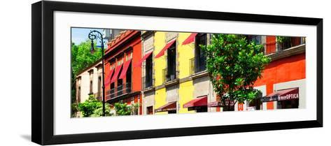 ¡Viva Mexico! Panoramic Collection - Mexico City Colorful Facades-Philippe Hugonnard-Framed Art Print