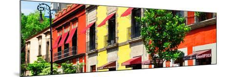 ¡Viva Mexico! Panoramic Collection - Mexico City Colorful Facades-Philippe Hugonnard-Mounted Photographic Print
