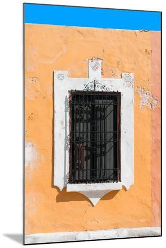 ¡Viva Mexico! Collection - Orange Window - Campeche-Philippe Hugonnard-Mounted Photographic Print