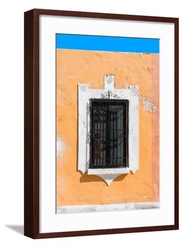 ¡Viva Mexico! Collection - Orange Window - Campeche-Philippe Hugonnard-Framed Art Print