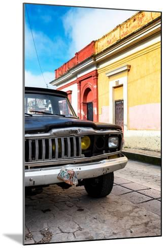 ¡Viva Mexico! Collection - Old Black Jeep and Colorful Street-Philippe Hugonnard-Mounted Photographic Print