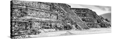 ¡Viva Mexico! Panoramic Collection - Teotihuacan Pyramids II-Philippe Hugonnard-Stretched Canvas Print