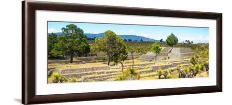 ¡Viva Mexico! Panoramic Collection - Pyramid of Cantona - Puebla I-Philippe Hugonnard-Framed Art Print