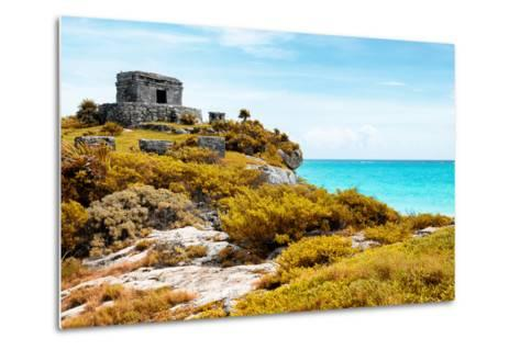 ¡Viva Mexico! Collection - Ancient Mayan Fortress in Riviera Maya with Fall Colors - Tulum-Philippe Hugonnard-Metal Print