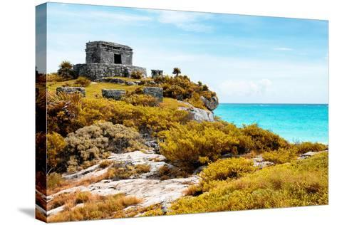 ¡Viva Mexico! Collection - Ancient Mayan Fortress in Riviera Maya with Fall Colors - Tulum-Philippe Hugonnard-Stretched Canvas Print