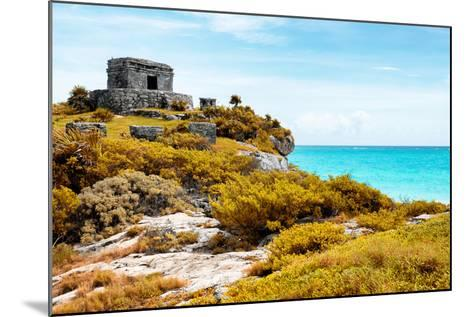 ¡Viva Mexico! Collection - Ancient Mayan Fortress in Riviera Maya with Fall Colors - Tulum-Philippe Hugonnard-Mounted Photographic Print