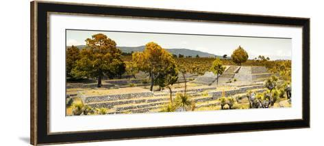 ¡Viva Mexico! Panoramic Collection - Pyramid of Cantona - Puebla II-Philippe Hugonnard-Framed Art Print