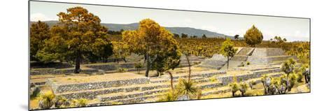 ¡Viva Mexico! Panoramic Collection - Pyramid of Cantona - Puebla II-Philippe Hugonnard-Mounted Photographic Print