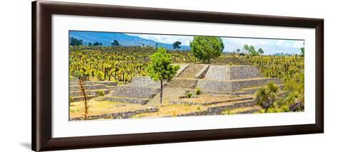 ¡Viva Mexico! Panoramic Collection - Pyramid of Cantona - Puebla IV-Philippe Hugonnard-Framed Art Print