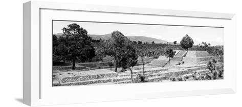 ¡Viva Mexico! Panoramic Collection - Pyramid of Cantona - Puebla III-Philippe Hugonnard-Framed Art Print