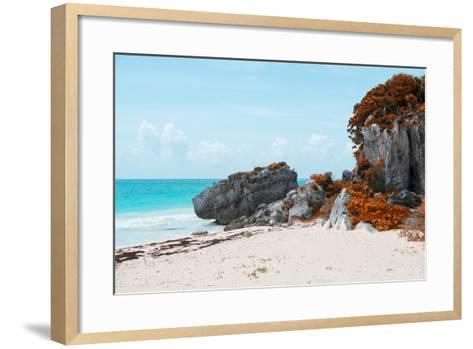 ¡Viva Mexico! Collection - Riviera Maya in Tulum with Fall Colors-Philippe Hugonnard-Framed Art Print