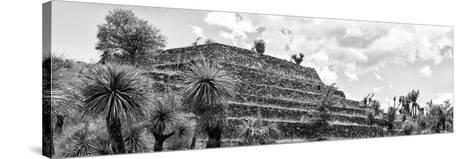 ¡Viva Mexico! Panoramic Collection - Pyramid of Cantona Archaeological Site VIII-Philippe Hugonnard-Stretched Canvas Print