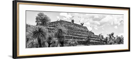 ¡Viva Mexico! Panoramic Collection - Pyramid of Cantona Archaeological Site VIII-Philippe Hugonnard-Framed Art Print