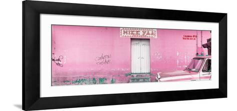 "¡Viva Mexico! Panoramic Collection - ""5 de febrero"" Light Pink Wall-Philippe Hugonnard-Framed Art Print"