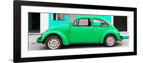 ¡Viva Mexico! Panoramic Collection - Green VW Beetle Car-Philippe Hugonnard-Framed Art Print