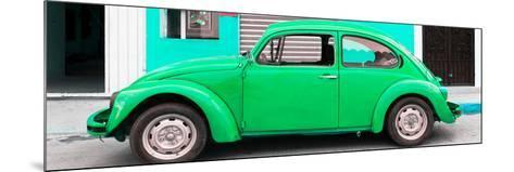 ¡Viva Mexico! Panoramic Collection - Green VW Beetle Car-Philippe Hugonnard-Mounted Photographic Print