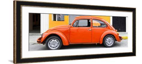 ¡Viva Mexico! Panoramic Collection - Orange VW Beetle Car-Philippe Hugonnard-Framed Art Print