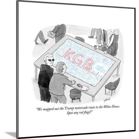 """""""We mapped out the Trump motorcade route to the White House."""" - Cartoon-Tom Toro-Mounted Premium Giclee Print"""