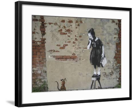 Ratgirl-Banksy-Framed Art Print