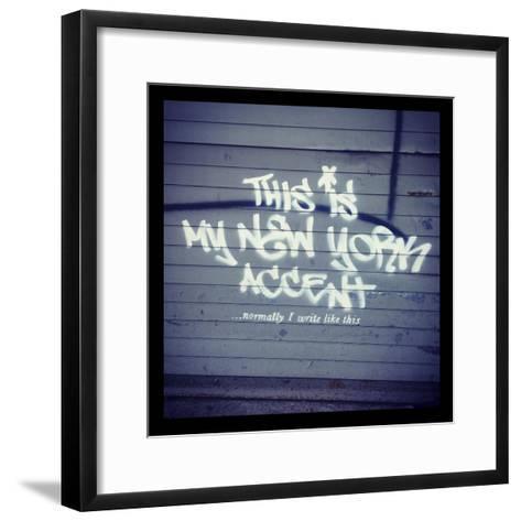 My New York Min-Banksy-Framed Art Print