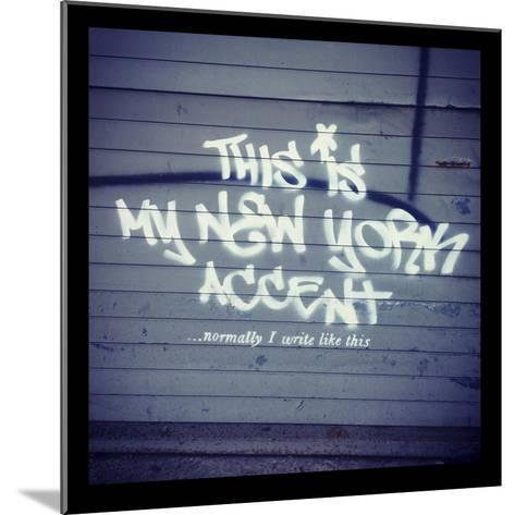 My New York Min-Banksy-Mounted Giclee Print