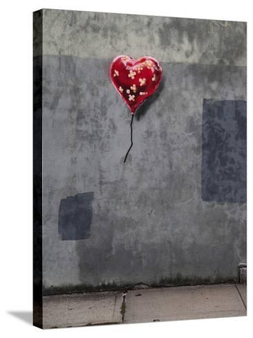 NYC Love-Banksy-Stretched Canvas Print