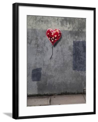 NYC Love-Banksy-Framed Art Print