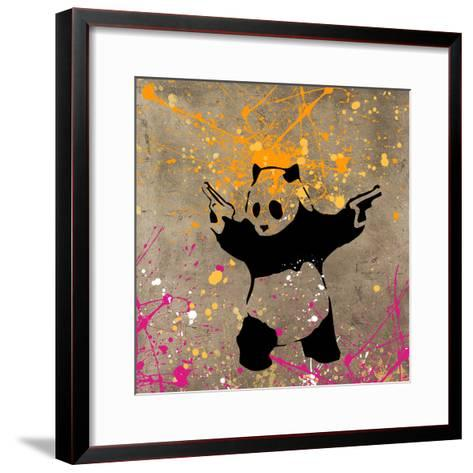 Panda with Guns-Banksy-Framed Art Print
