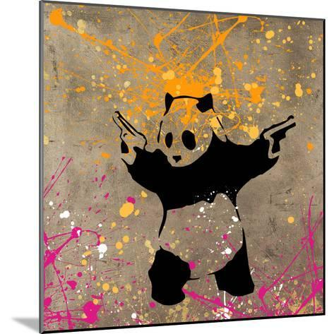 Panda with Guns-Banksy-Mounted Giclee Print