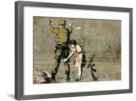 War-Banksy-Framed Art Print