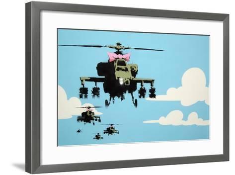 Vapor Helicopter UAV-Banksy-Framed Art Print