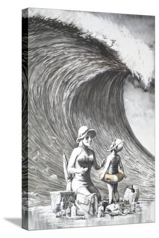 Dismal Beach-Banksy-Stretched Canvas Print