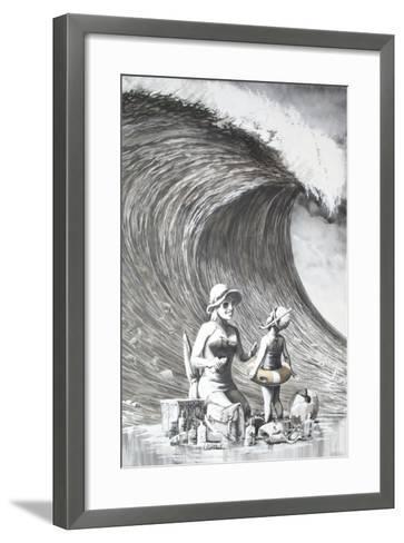 Dismal Beach-Banksy-Framed Art Print