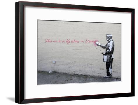 Echoes-Banksy-Framed Art Print