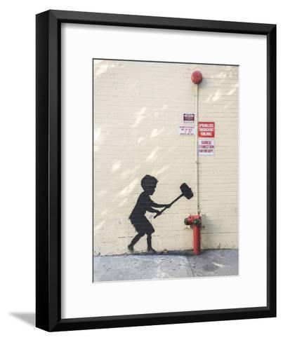 Better Out Than In-Banksy-Framed Art Print