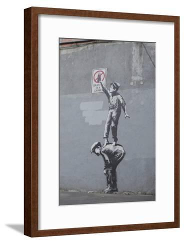Graffiti Is a Crime-Banksy-Framed Art Print