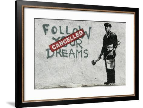 Cancelled Dreams-Banksy-Framed Art Print