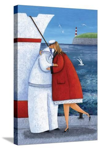 Seaside Reunion-Peter Adderley-Stretched Canvas Print