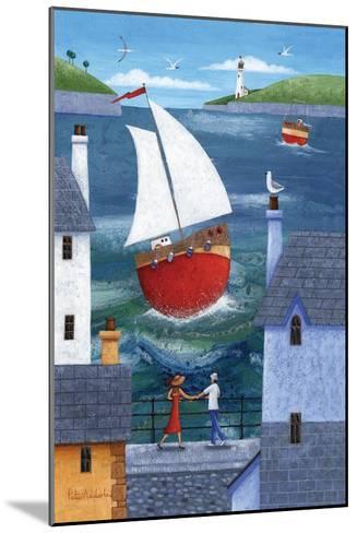 A Seaside Town-Peter Adderley-Mounted Art Print